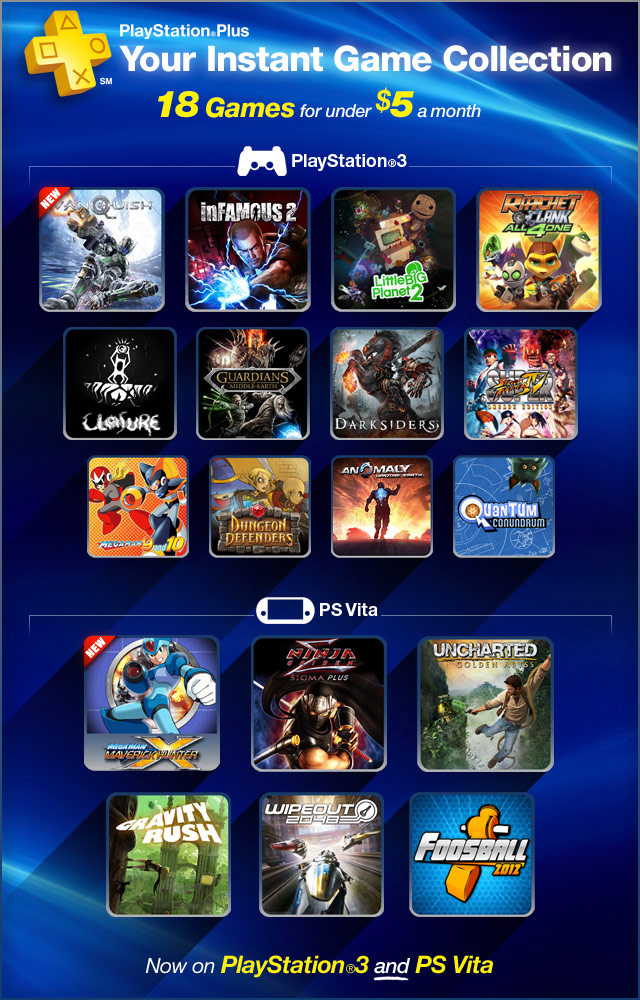 "Playstation plus ""instant game collection"" playstation."