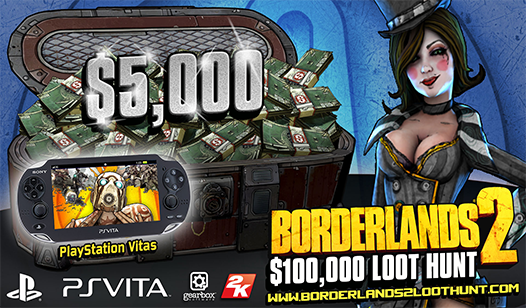 Borderlands®2 $100,000 Loot Hunt - Win a PS Vita and more!