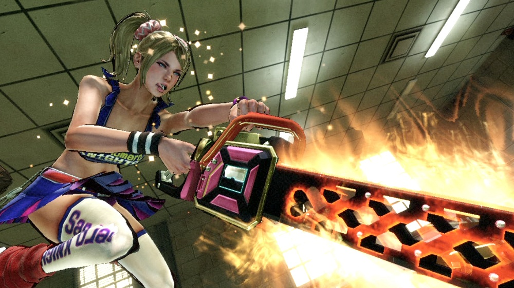 In Lollipop Chainsaw, there's nothing more formidable than a cheerleader with a pink chainsaw